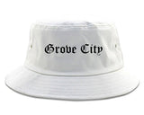 Grove City Pennsylvania PA Old English Mens Bucket Hat White