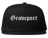 Groveport Ohio OH Old English Mens Snapback Hat Black