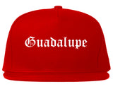 Guadalupe California CA Old English Mens Snapback Hat Red