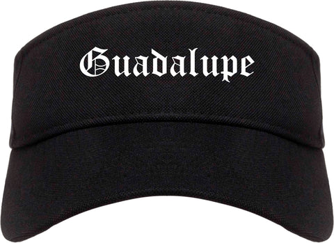 Guadalupe California CA Old English Mens Visor Cap Hat Black