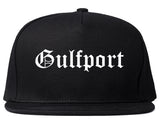 Gulfport Florida FL Old English Mens Snapback Hat Black