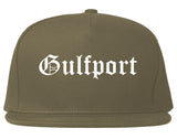 Gulfport Mississippi MS Old English Mens Snapback Hat Grey