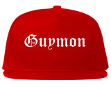 Guymon Oklahoma OK Old English Mens Snapback Hat Red