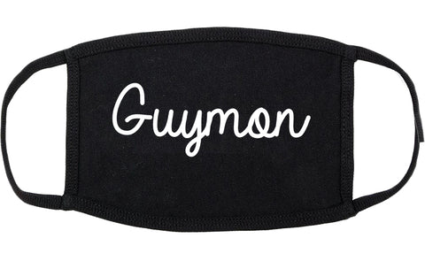 Guymon Oklahoma OK Script Cotton Face Mask Black