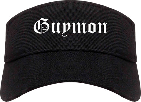 Guymon Oklahoma OK Old English Mens Visor Cap Hat Black