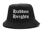 Haddon Heights New Jersey NJ Old English Mens Bucket Hat Black