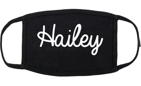 Hailey Idaho ID Script Cotton Face Mask Black