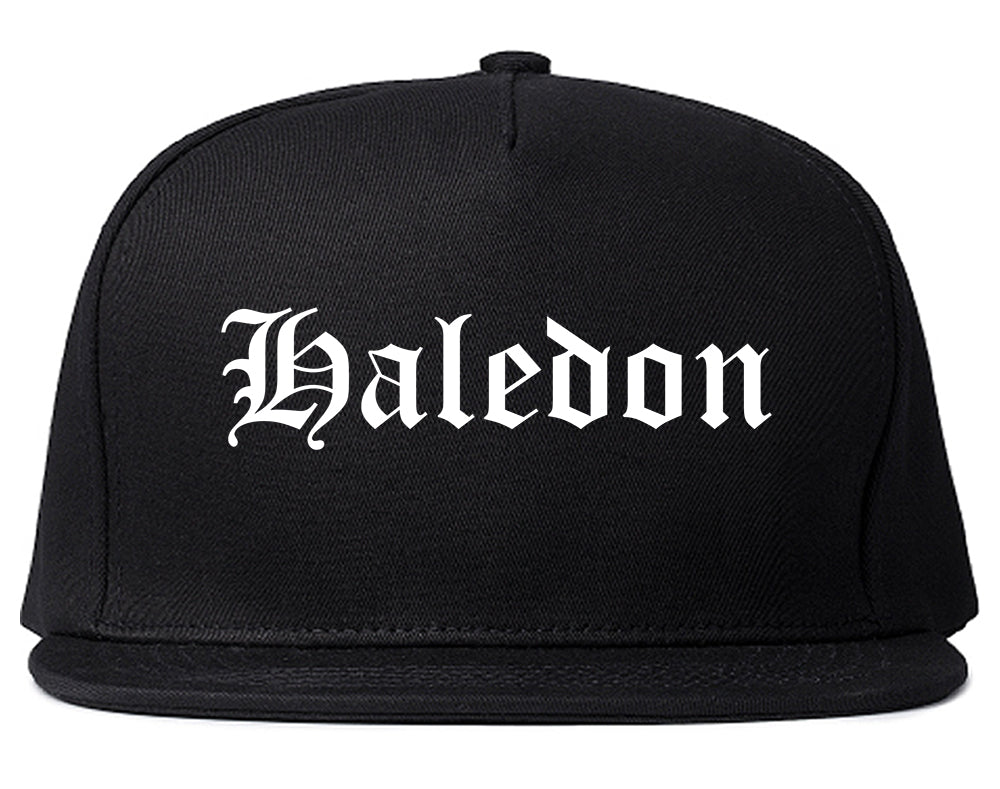Haledon New Jersey NJ Old English Mens Snapback Hat Black
