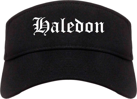 Haledon New Jersey NJ Old English Mens Visor Cap Hat Black