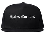 Hales Corners Wisconsin WI Old English Mens Snapback Hat Black