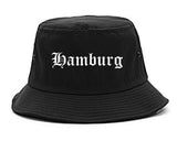 Hamburg New York NY Old English Mens Bucket Hat Black