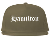 Hamilton Ohio OH Old English Mens Snapback Hat Grey
