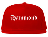 Hammond Indiana IN Old English Mens Snapback Hat Red
