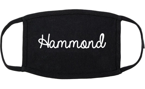 Hammond Louisiana LA Script Cotton Face Mask Black