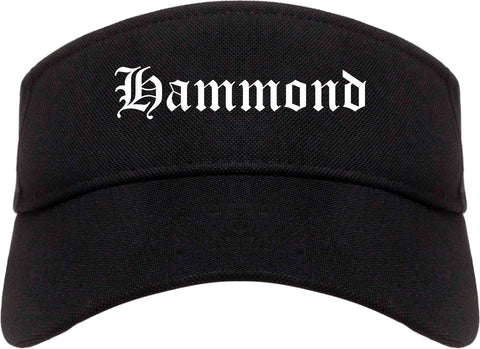 Hammond Louisiana LA Old English Mens Visor Cap Hat Black