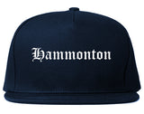 Hammonton New Jersey NJ Old English Mens Snapback Hat Navy Blue