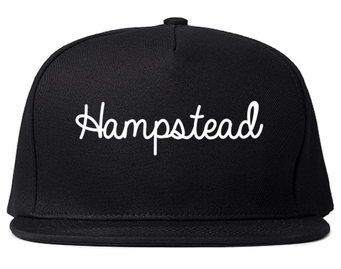 Hampstead Maryland MD Script Mens Snapback Hat Black