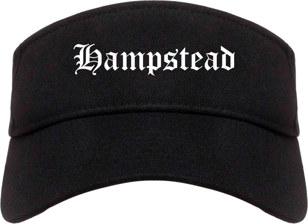 Hampstead Maryland MD Old English Mens Visor Cap Hat Black