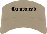 Hampstead Maryland MD Old English Mens Visor Cap Hat Khaki