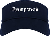 Hampstead Maryland MD Old English Mens Visor Cap Hat Navy Blue