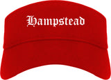 Hampstead Maryland MD Old English Mens Visor Cap Hat Red