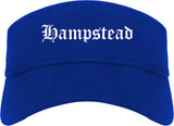 Hampstead Maryland MD Old English Mens Visor Cap Hat Royal Blue