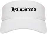 Hampstead Maryland MD Old English Mens Visor Cap Hat White