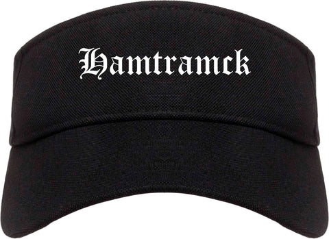 Hamtramck Michigan MI Old English Mens Visor Cap Hat Black