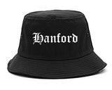 Hanford California CA Old English Mens Bucket Hat Black