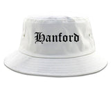 Hanford California CA Old English Mens Bucket Hat White