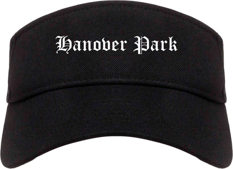 Hanover Park Illinois IL Old English Mens Visor Cap Hat Black