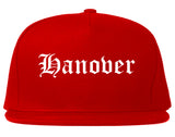 Hanover Pennsylvania PA Old English Mens Snapback Hat Red