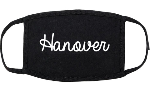 Hanover Pennsylvania PA Script Cotton Face Mask Black