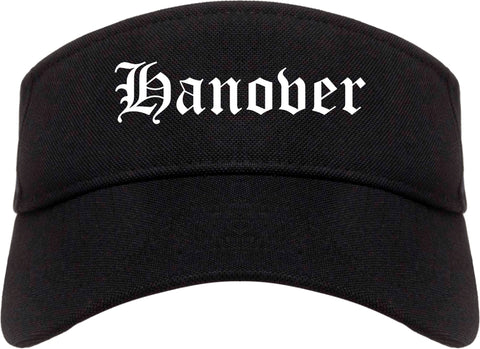 Hanover Pennsylvania PA Old English Mens Visor Cap Hat Black