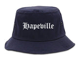 Hapeville Georgia GA Old English Mens Bucket Hat Navy Blue