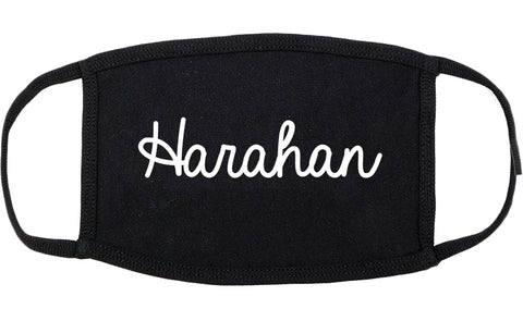 Harahan Louisiana LA Script Cotton Face Mask Black