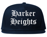 Harker Heights Texas TX Old English Mens Snapback Hat Navy Blue