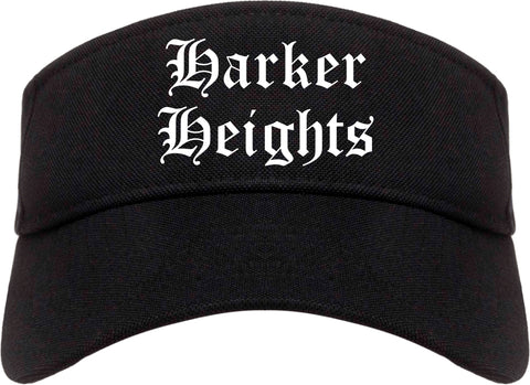 Harker Heights Texas TX Old English Mens Visor Cap Hat Black