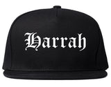 Harrah Oklahoma OK Old English Mens Snapback Hat Black