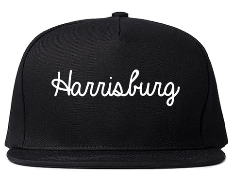 Harrisburg Illinois IL Script Mens Snapback Hat Black