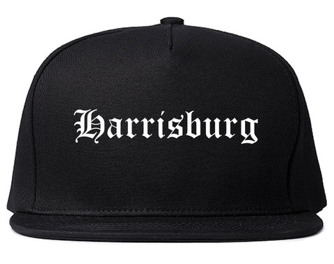 Harrisburg Pennsylvania PA Old English Mens Snapback Hat Black