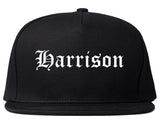 Harrison Arkansas AR Old English Mens Snapback Hat Black