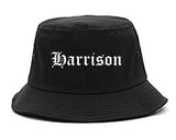 Harrison Arkansas AR Old English Mens Bucket Hat Black