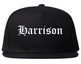 Harrison New Jersey NJ Old English Mens Snapback Hat Black