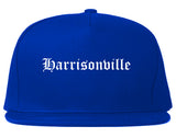 Harrisonville Missouri MO Old English Mens Snapback Hat Royal Blue