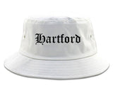 Hartford Connecticut CT Old English Mens Bucket Hat White