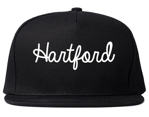 Hartford Wisconsin WI Script Mens Snapback Hat Black