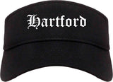 Hartford Wisconsin WI Old English Mens Visor Cap Hat Black