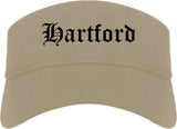 Hartford Wisconsin WI Old English Mens Visor Cap Hat Khaki