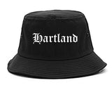 Hartland Wisconsin WI Old English Mens Bucket Hat Black